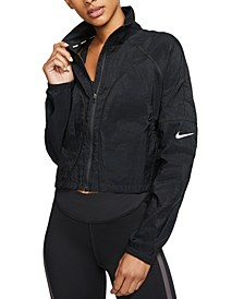 Translucent Cropped Running Jacket