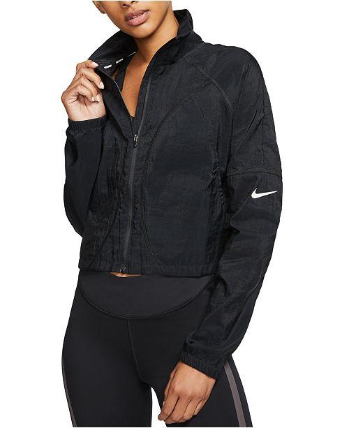 Nike Women's Translucent Cropped Running Jacket & Reviews - Women - Macy's