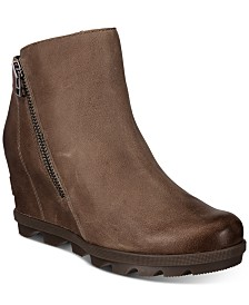 Sorel Women's Joan Of Arctic Wedge Zip Booties