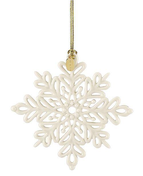 Lenox 2019 Snow Fantasies Snowflake Ornament