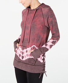 Ideology Tie-Dyed Lace-Up Hoodie, Created for Macy's