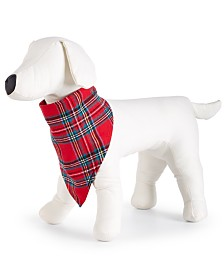 Matching Family Pajamas Brinkley Plaid Pet Bandanna, Created For Macy's
