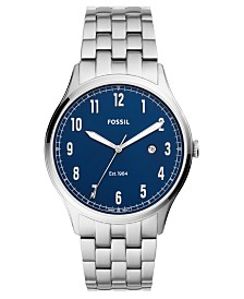 Fossil Men's Forrester Stainless Steel Bracelet Watch 42mm