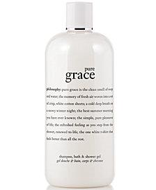 philosophy pure grace 3-in-1 shampoo, shower gel and bubble bath, 16 oz