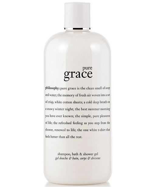 philosophy pure grace 3-in-1 shampoo, shower gel and bubble bath, 16 oz