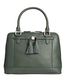 Giani Bernini Pebble Leather Tassel Dome Satchel, Created for Macy's