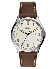 Men's Forrester Brown Leather Strap Watch 42mm