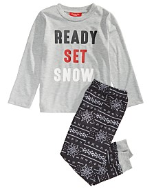 Matching Family Pajamas Kids Ready Set Snow Pajama Set, Created For Macy's