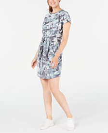 Ideology Printed Tie-Front T-Shirt Dress, Created for Macy's