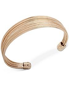 Gold-Tone Multi-Row Cuff Bracelet