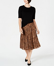 Sweater & Pleated Midi Skirt, Created for Macy's