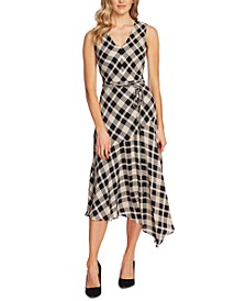 Sleeveless Plaid Maxi Dress