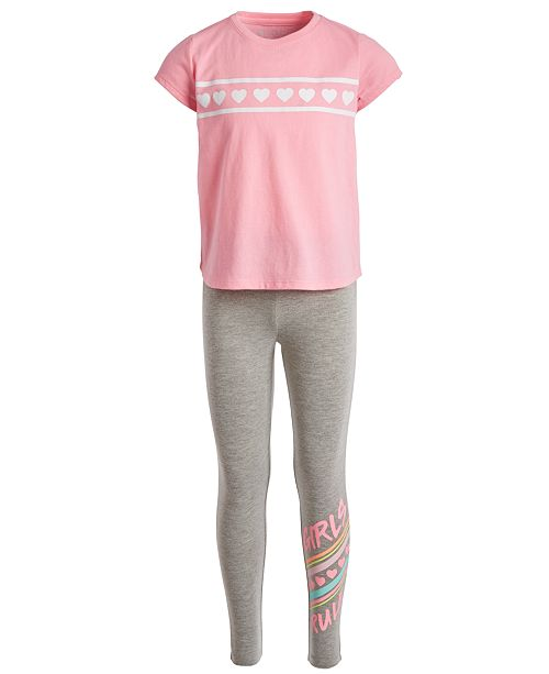 Ideology Little Girls 2-Pc. T-Shirt & Leggings Set, Created for Macy's
