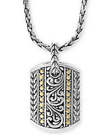 "EFFY® Filigree & Dot 18"" Pendant Necklace in Sterling Silver & 18k Gold"