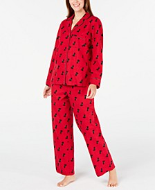 Printed Cotton Flannel Pajama Set, Created for Macy's