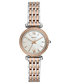 Women's Mini Carlie Two-Tone Stainless Steel Bracelet Watch 28mm