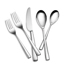Tomodachi Ella Satin Fade 112-PC Flatware Set, Service for 12