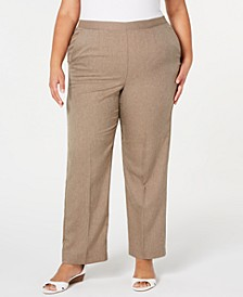 Plus Size Boardroom Pull-On Straight-Leg Pants