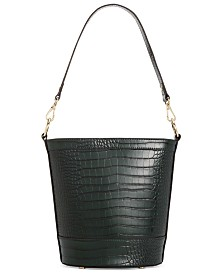 I.N.C. Kaiah Croco Bucket Bag, Created for Macy's