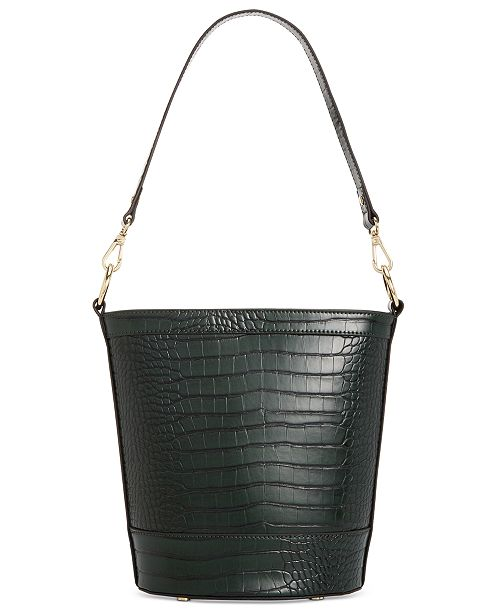INC International Concepts I.N.C. Kaiah Croco Bucket Bag, Created for Macy's