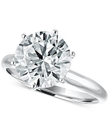 LIMITED EDITION! Macy's Star Signature Diamond Solitaire Engagement Ring (4 ct. t.w.) in 14k White Gold