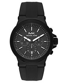 Men's Chronograph Dylan Black Silicone Strap Watch 45mm