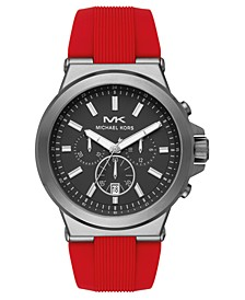Men's Chronograph Dylan Red Silicone Strap Watch 45mm