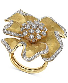 EFFY® Diamond Flower Statement Ring (1-3/8 ct. t.w.) in 14k Gold