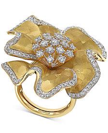 EFFY® Diamond Flower Statement Ring (1-3/8 ct. t.w.) in 14k Gold