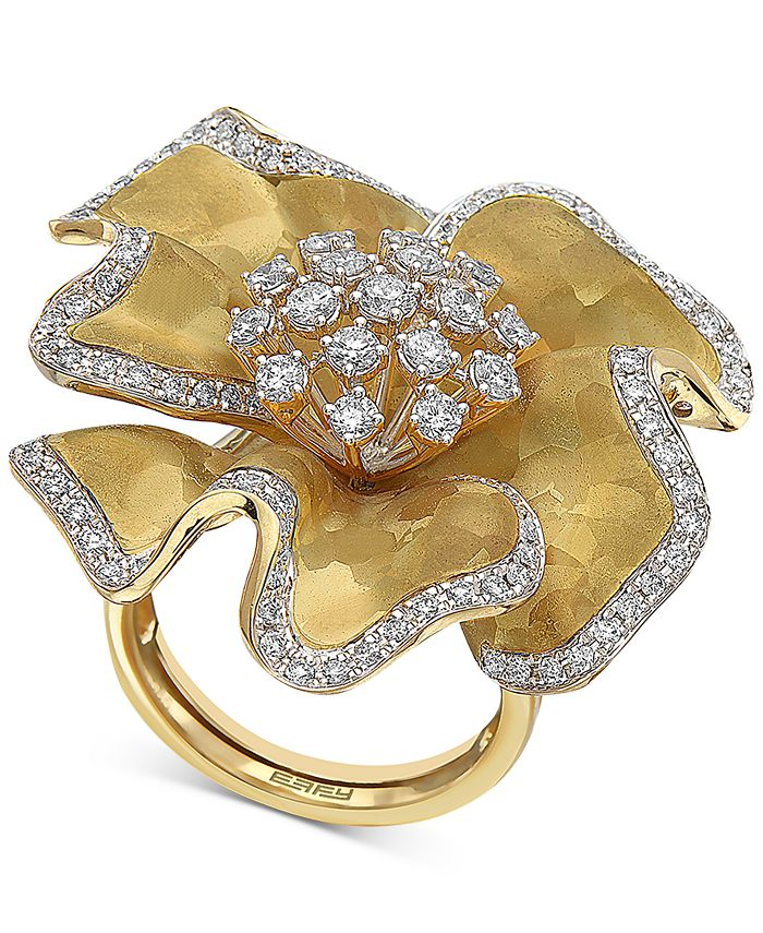 EFFY Collection - Diamond Flower Statement Ring (1-3/8 ct. t.w.) in 14k Gold
