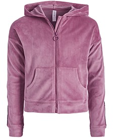 Big Girls Velour Zip-Up Hoodie, Created for Macy's