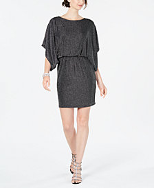 Jessica Howard Metallic Blouson Dress