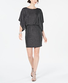 Jessica Howard Petite Metallic Blouson Dress