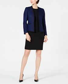 Le Suit Contrast Jacket & Dress Suit