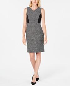 Kasper Tweed Sheath Dress