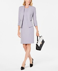 Kasper Petite Open-Front Jacket & Sheath Dress