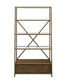 Dorel Living Fiona Pyramid Bookcase Etagere