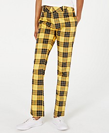 Plaid Stretch Twill Pants
