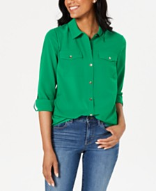 Charter Club Two-Pocket Shirt, Created for Macy's