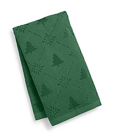 Snow Tree Cotton Hand Towel, Created for Macy's