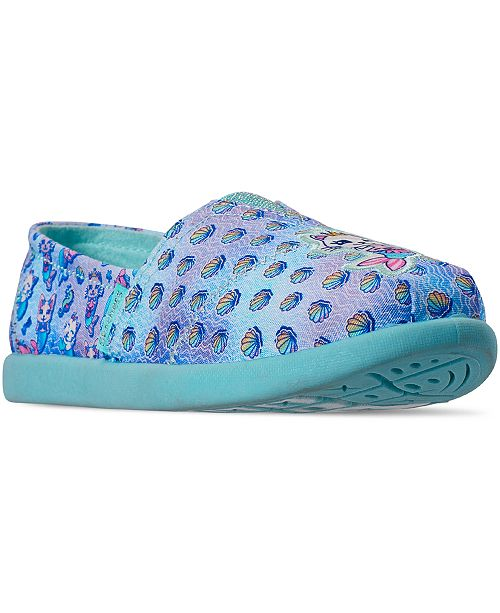 Skechers Little Girls Lil' BOB Solestice 2.0 Apargata Flat Slip-On Casual Sneakers from Finish Line