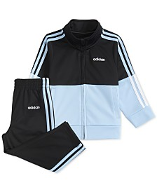 adidas Baby Boys 2-Pc. Colorblocked Tricot Jacket & Jogger Pants Set