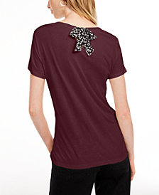 Maison Jules Tie-Back Solid T-Shirt, Created for Macy's