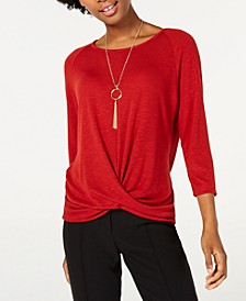 Twist-Hem Necklace Top