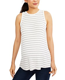 Maternity Striped Tank Top