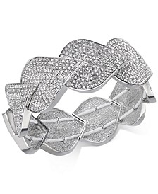 INC Silver-Tone Pavé Teardrop Stretch Bracelet, Created For Macy's