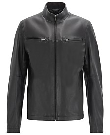 BOSS Men's Noklin Leather Jacket