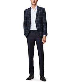 BOSS Men's Nobis6 Plain-Check Slim-Fit Blazer