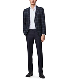 BOSS Men's Nobis6 Plain-Check Slim-Fit Jacket