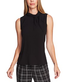 Vince Camuto Tie-Neck Button Blouse